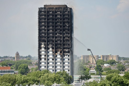 "File photo dated 14/06/17 of firefighters spraying water after the fire engulfed Grenfell Tower in west London. Families of those killed in the Grenfell Tower blaze fear a report into what happened will be ""buried in Brexit"" after it was revealed that it will be published a day before Britain is due to leave the European Union. PA Photo. Issue date: Friday October 4, 2019. Prime Minister Boris Johnson, in a letter to inquiry chairman Sir Martin Moore-Bick, set a deadline of October 30 for making public the initial findings on the west London fire. See PA story POLITICS Grenfell. Photo credit should read: Victoria Jones/PA Wire"