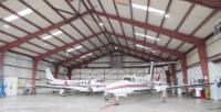 Airplanes in hangar