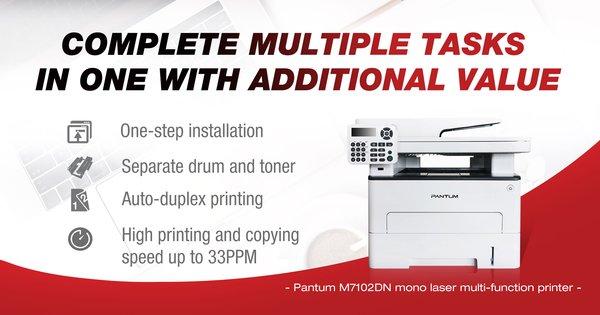 Pantum M7102DN mono laser multi-function printer