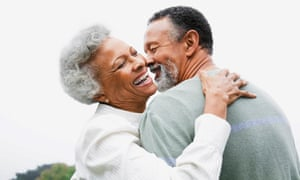 An image of a happy couple used in the company's marketing material.