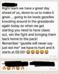 A Prosperous Life Whatsapp message.