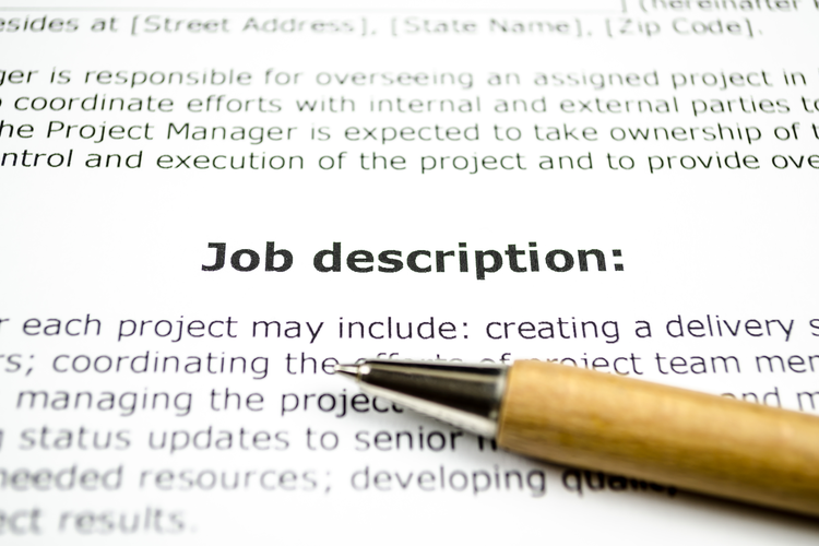 job description rendering