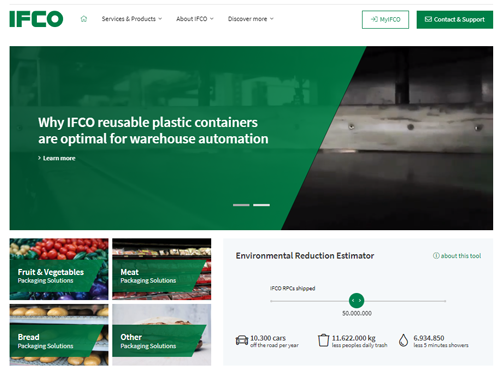 The reusable packaging solutions provider recently announced the launch of its new company website