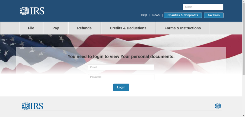 A fake IRS site used in a set of phishing campaigns observed by Akamai from August to October.