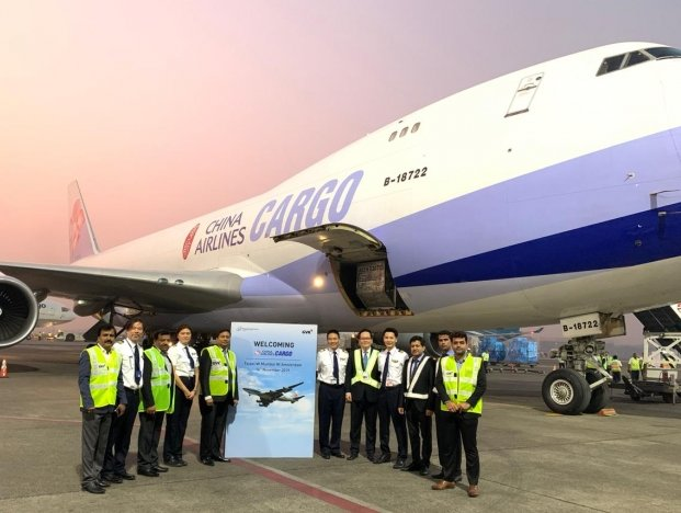 China Airlines Cargo's Boeing 747 400F lands in Mumbai