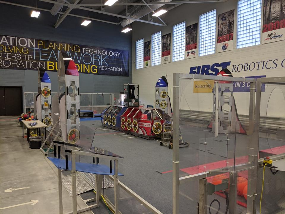 Kettering University FIRST Robotics Center includes a practice field for the student teams