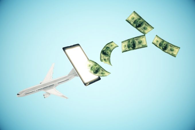 Online payment for plane tickets