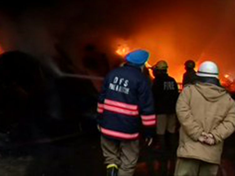 Fire breaks out in a warehouse in Mundka area
