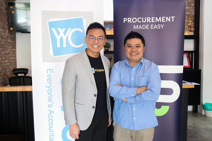 Yap Zhi Chau, group executive chairman, YYC Advisors and Jonathan Oh, Supplycart CEO and cofounder.