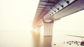 Bridge over water