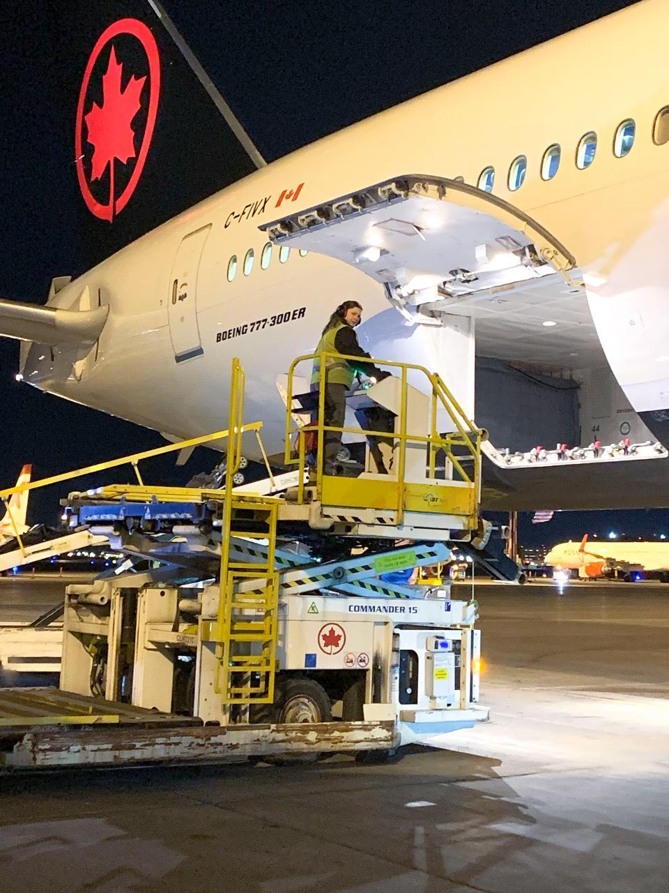 Cargo hatches are wider than passenger door entrances